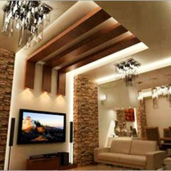 Fall Ceiling Designs For Living Room In India Small Layout With Corner Fireplace Modern False Shri Krishna Interiors Sadabad Gate Hathras