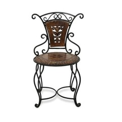 Chair Design Iron Leather Wingback Recliner Desi Karigar Wooden Antique Size Lxbxh 13x13x24 Inch