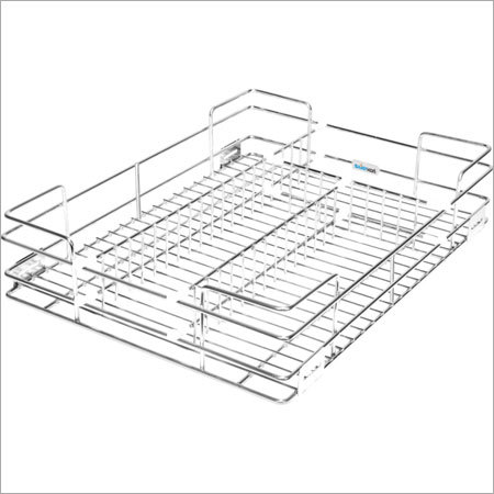 kitchen basket white tile grain trolley