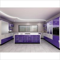 kitchen shutters island with sink and stove top in pune dealers traders