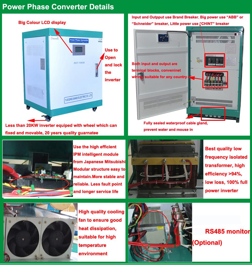 hight resolution of single phase 110v to 3 phase 220v ac power supply
