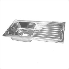 Square Kitchen Sink Salvaged Cabinets Single Bowl Drain Board