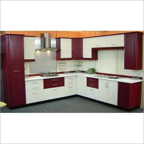 Modern L Shaped Modular Kitchen At Best Price In Jaipur Rajasthan Manglam Interiors