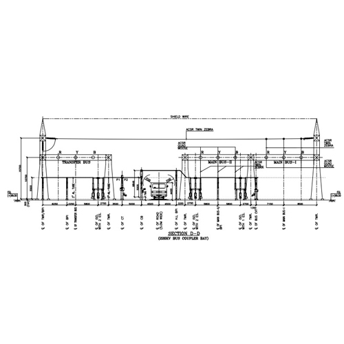 220kV Switchyard Layout Plan and Elevation Drawing in