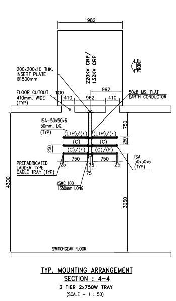 Cable Tray Layout drawing of Indoor Substation in Kolkata
