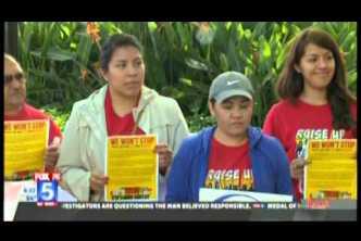 Fast-Food Strike Downtown San Diego (December 4, 2014) KSWB TV 6pm