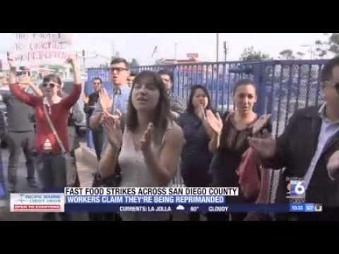 San Diego Fast-Food Workers Claim Retaliation After Strike (Dec 5, 2014) – KSWB