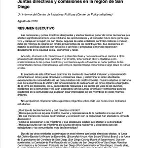 Informe sobre la Representación Comunitaria (2018)