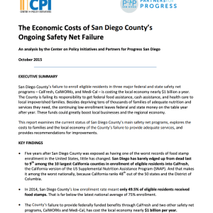 The Economic Costs of San Diego County's Ongoing Safety Net Failure (2015)