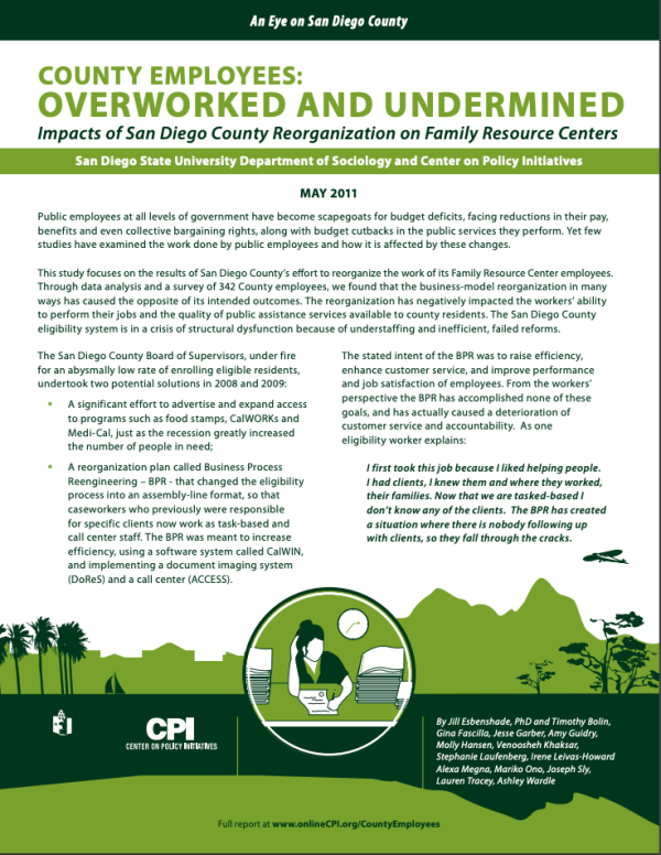 Summary: County Employees Overworked and Undermined (2011)