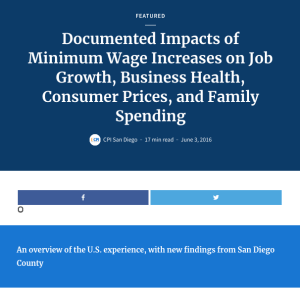 Web report: Minimum Wage Impacts (2016)