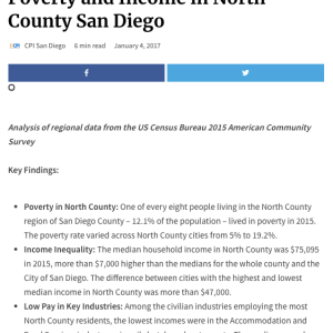 Web report: Poverty and Income in North County San Diego (2017)