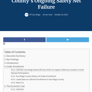 Web report: The Economic Costs of San Diego County's Ongoing Safety Net Failure (2015)