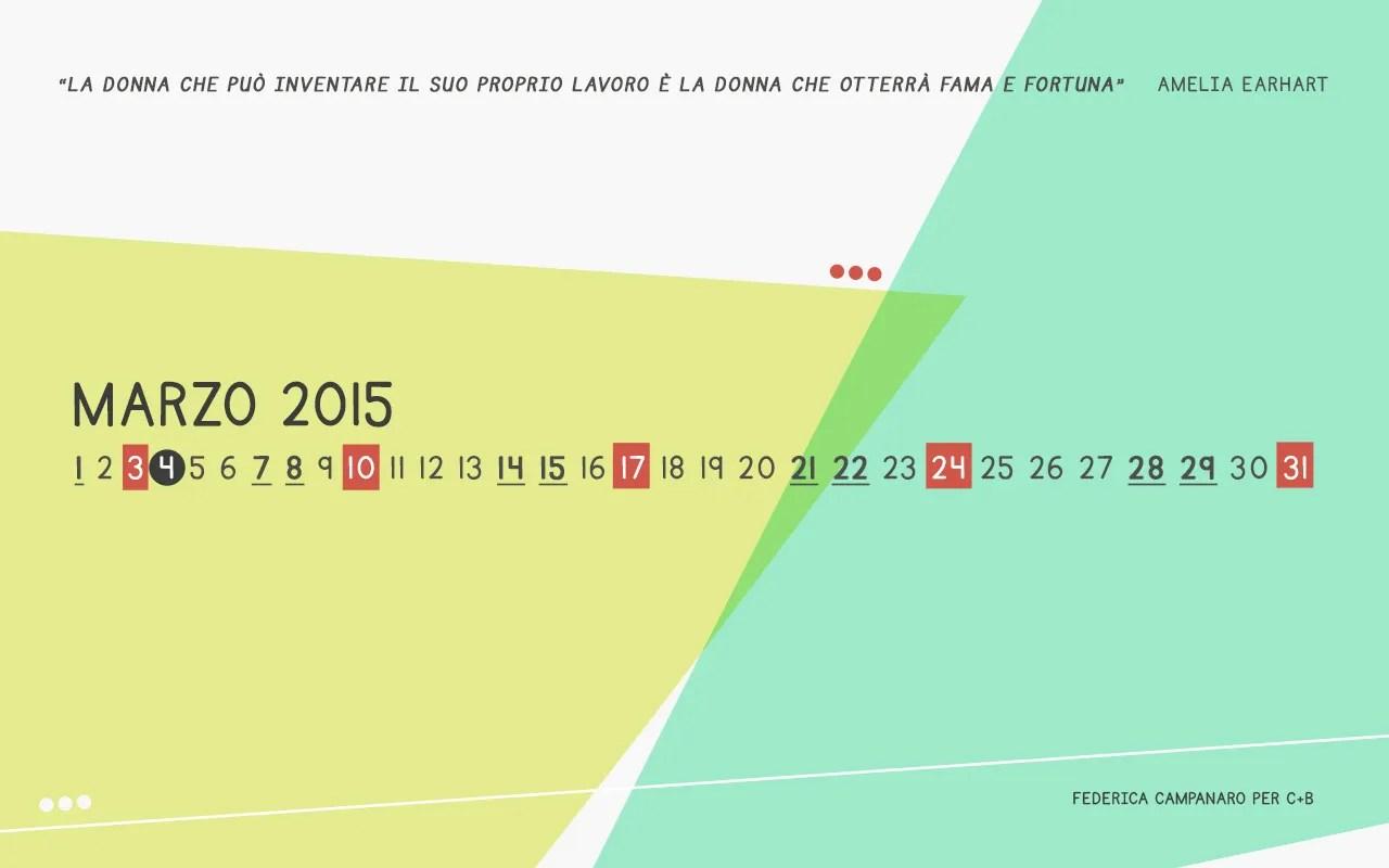 Calendario desktop marzo 2015 di Federica Campanaro