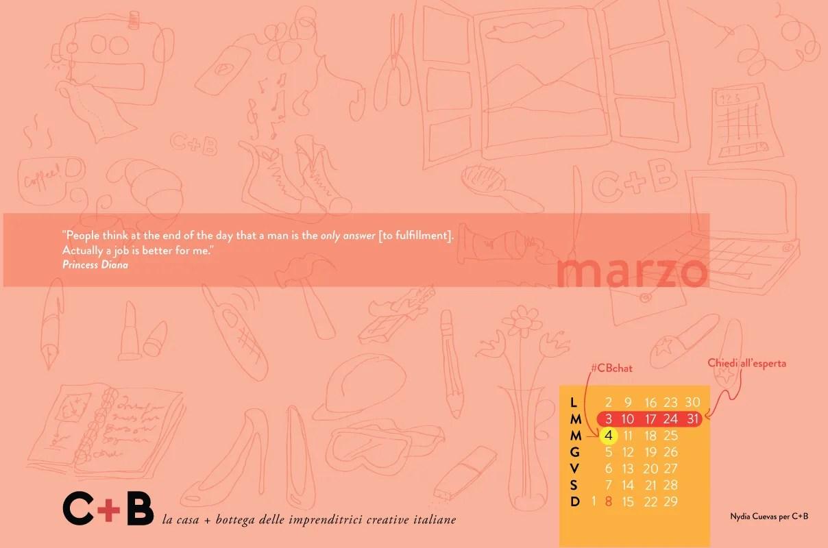Calendario desktop marzo 2015 di Nydia Cuevas