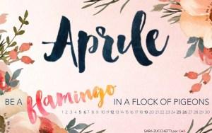 Calendario desktop scaricabile Aprile 2015