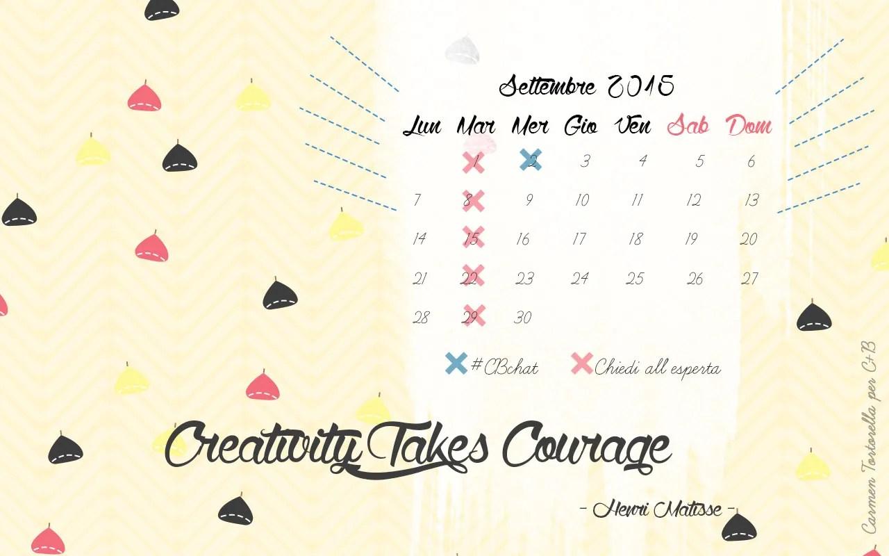 Carmen Tortorella Calendario Desktop Settembre 2015
