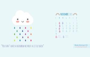 Calendario desktop scaricabile novembre 2015