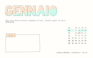 Calendario desktop scaricabile gennaio 2016