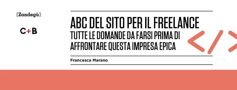 """Copertina libro """"Abc del sito per il freelance"""" di Francesca Marano"""