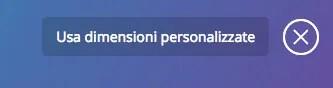 Dimensioni personalizzate