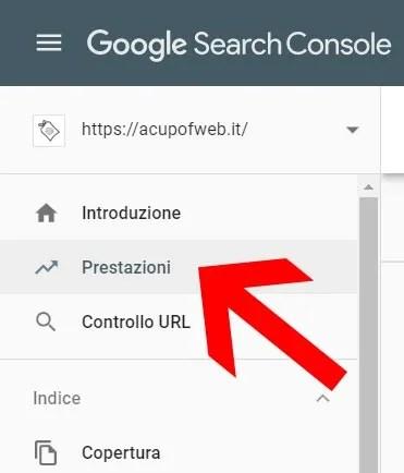 tutorial google search console prestazioni