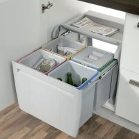 Hafele | 60cm City pull-out waste bin, 4x 12 litre ...