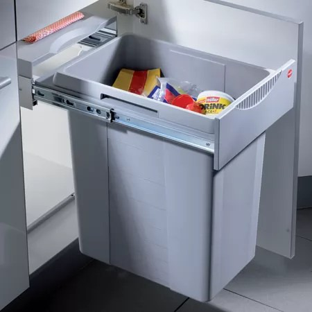 blum kitchen bins pantry storage hafele easy cargo waste bin for 40cm cabinet pullout