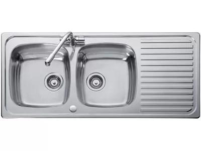 Hafele Double Bowl Single Drainer Sink Kitchen Sinks
