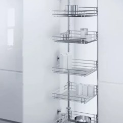 Storage Cabinet For Kitchen Countertop Hafele | 300mm Pull Out Larder Unit With Wire Baskets