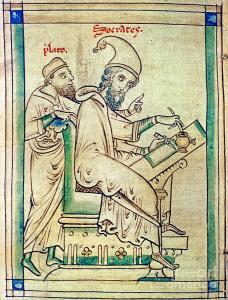 Matthew Paris: Plato and Socrates via fineartamerica.com