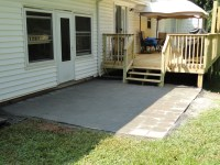 Finished deck with Patio and handrails