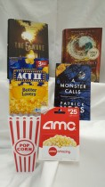 Books2Movies Keyword: B2M Contains: * $25 AMC gift card * Allegiant by Veronica Roth, signed book * The 5th Wave by Rick Yancey, book * A Monster Calls by Patrick Ness, book * Popcorn * Plastic popcorn cups x2