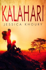Kalahari by Jessica Khoury Deep in the Kalahari Desert, a Corpus lab protects a dangerous secret. But what happens when that secret takes on a life of its own? When an educational safari goes wrong, five teens find themselves stranded in the Kalahari Desert without a guide. Find it here
