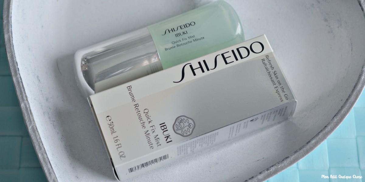 Rafraîchir son makeup avec la Brume Retouche Minute de Shiseido