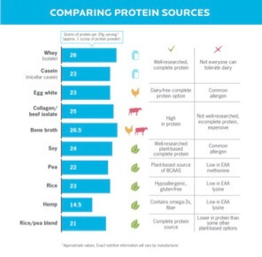 comparing protein sources chart