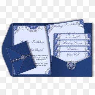 wedding invitation design royal blue