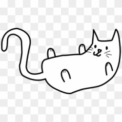 Black And White Cat Drawingcat Line Drawings Clipart Black And White Cat Drawing Png Download #1490967 PikPng