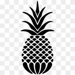 Drawing Pineapple Black And White Silhouette Pineapple Clipart Png Transparent Png #3474436 PikPng