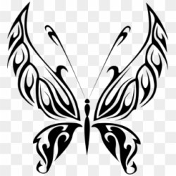 Butterfly Line Art Black Butterfly Clip Art Png Download #3871382 PikPng