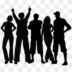 Group Black Silhouette Dancing People Silhouette Png Clipart #908307 PikPng