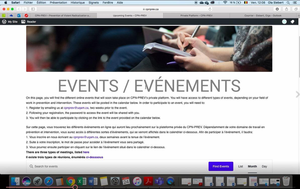 3.Comment s'inscrire à un événement virtuel