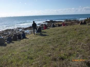 Vendée-Globe 2016 - Spectateurs sur la dune perchée