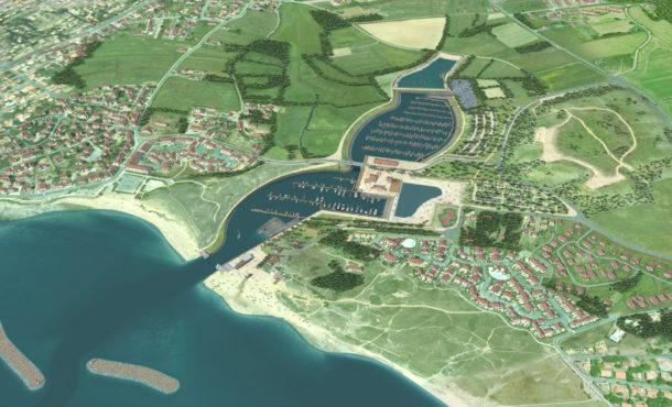 Projet de port de Brétignolles. Source: Pays de Vie de Saint-Gilles-Croix-de-Vie