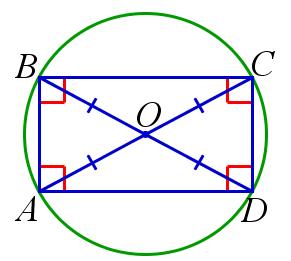Вписанный в окружность прямоугольник