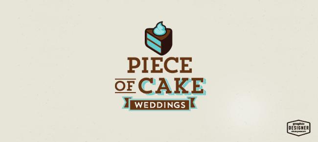 Cake Logo • Piece Of Cake Weddings • Graphic Designer