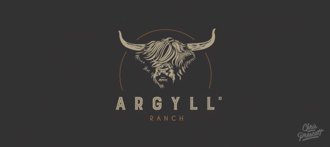 Wood Type Western Logo • Argyll Ranch • Graphic Designer