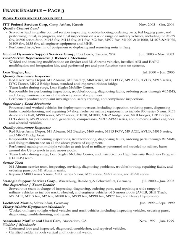 Government Resume Templates » 23 Best Trades Resume ...