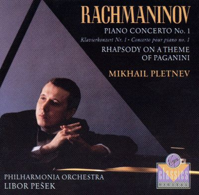 Rachmaninov Piano Concerto No1; Rhapsody On A Theme Of