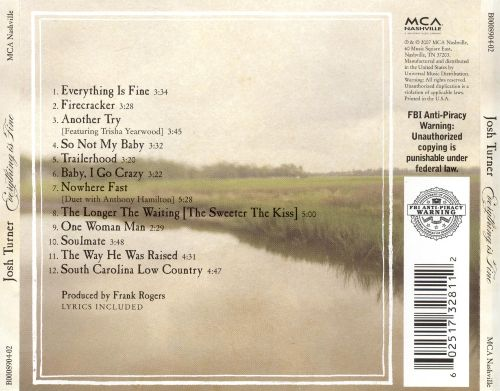 Everything Is Fine Josh Turner Songs Reviews Credits Allmusic